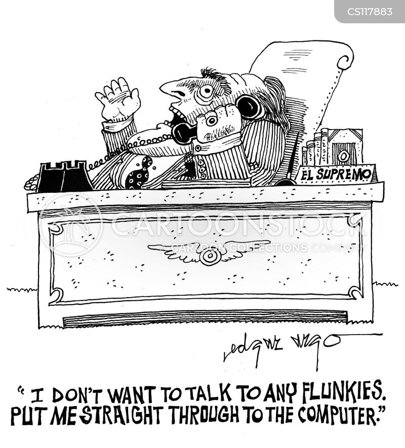 flunkie cartoon