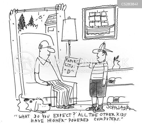 excusing cartoon
