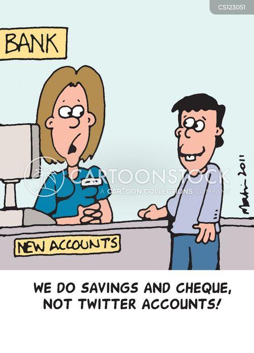 new account cartoon