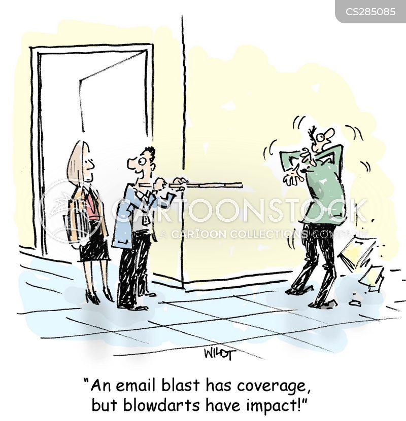 email blast cartoon