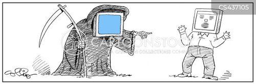 computer screens cartoon