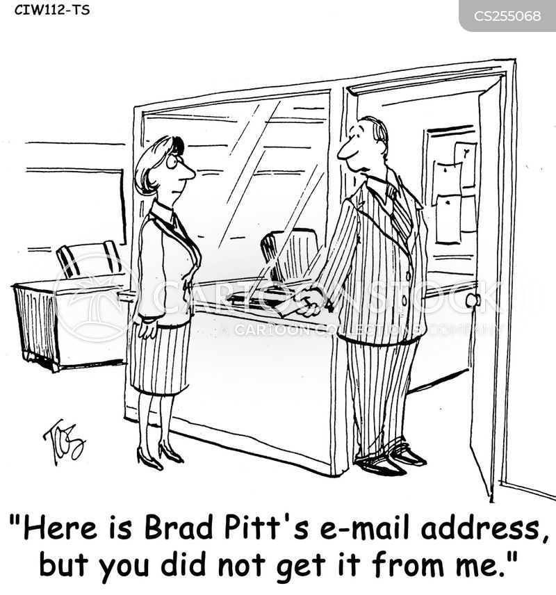 e-mail address cartoon