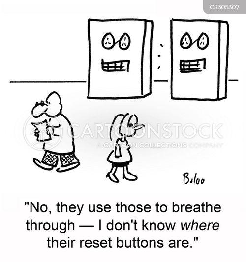 reset buttons cartoon