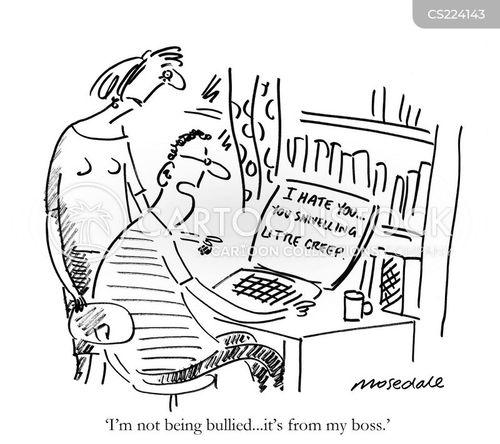 bullying at work cartoon