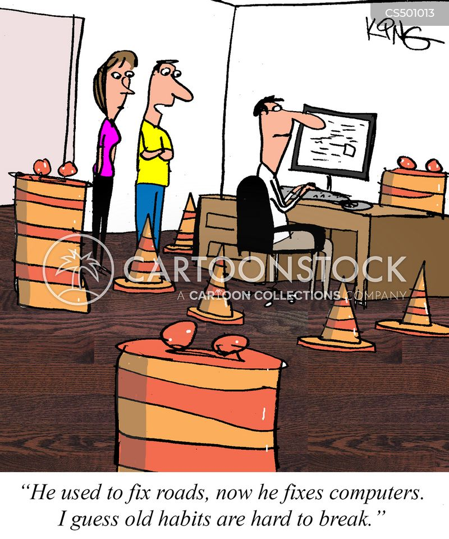 old habits cartoon