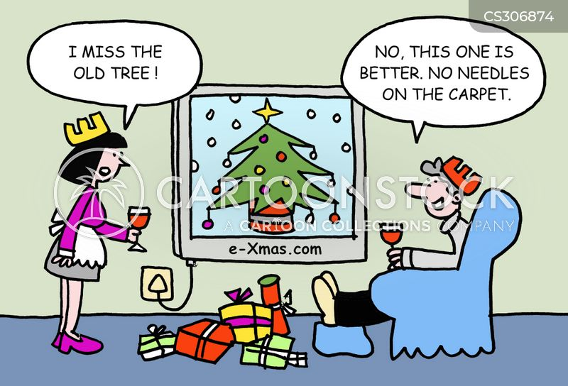 virtual christmas cartoon