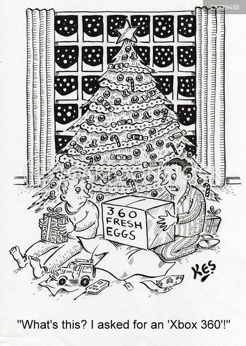 fresh eggs cartoon