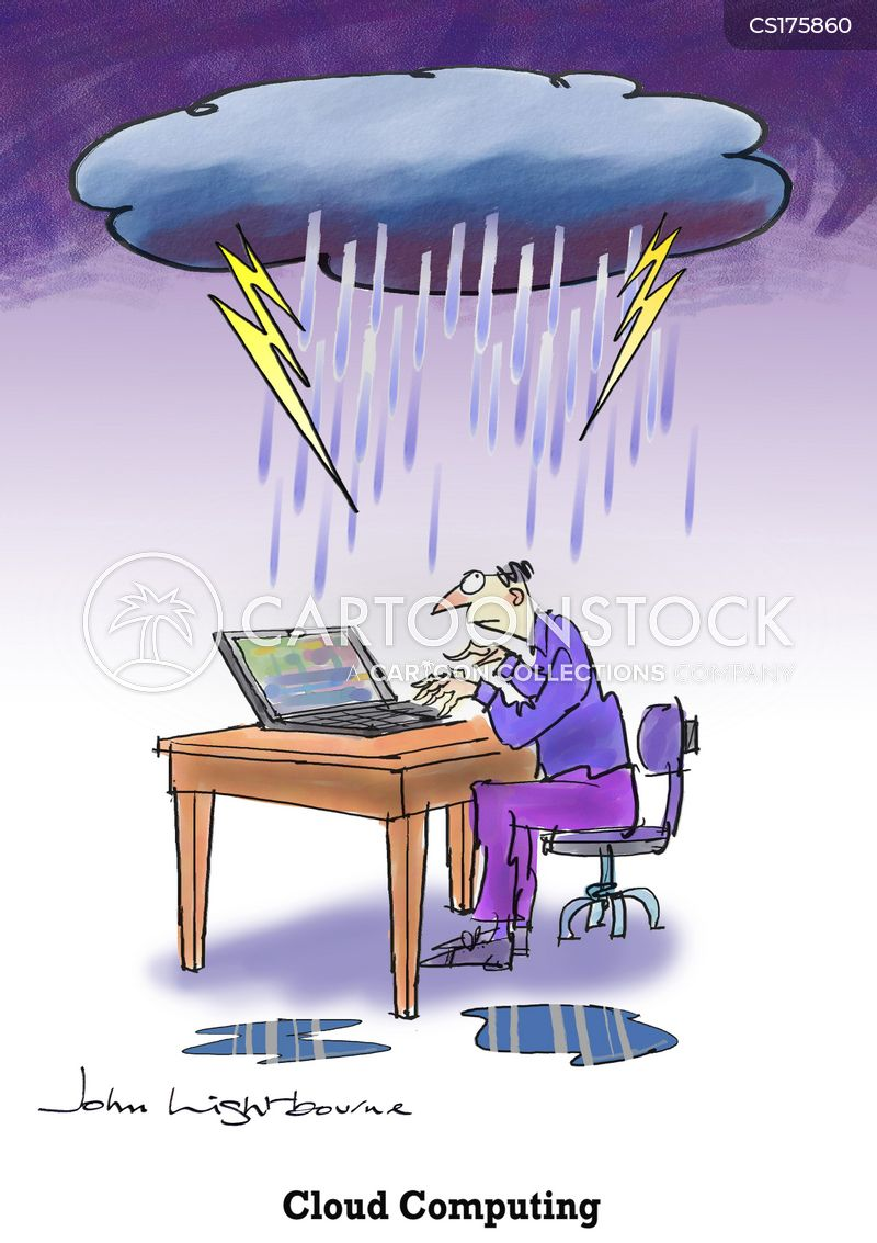 cloud computers cartoon