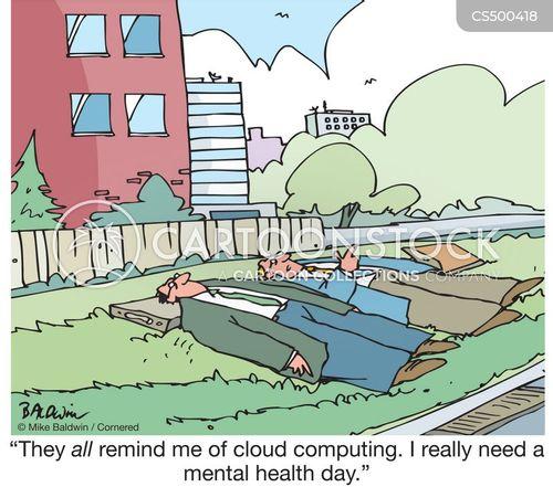 cloud gazing cartoon