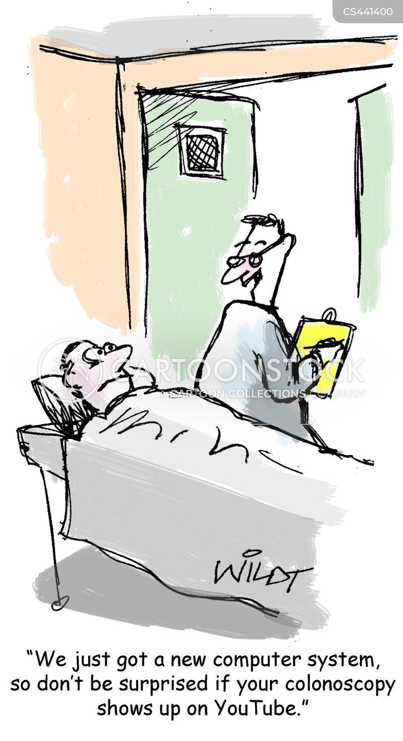 colonoscopy cartoon