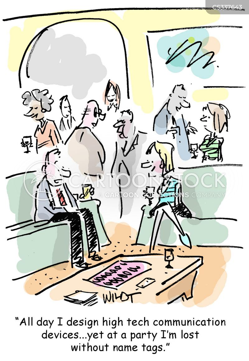 nametags cartoon