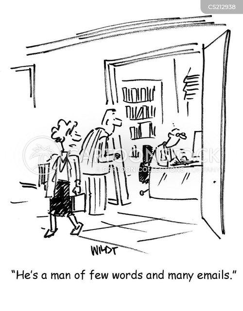 man of few words cartoon