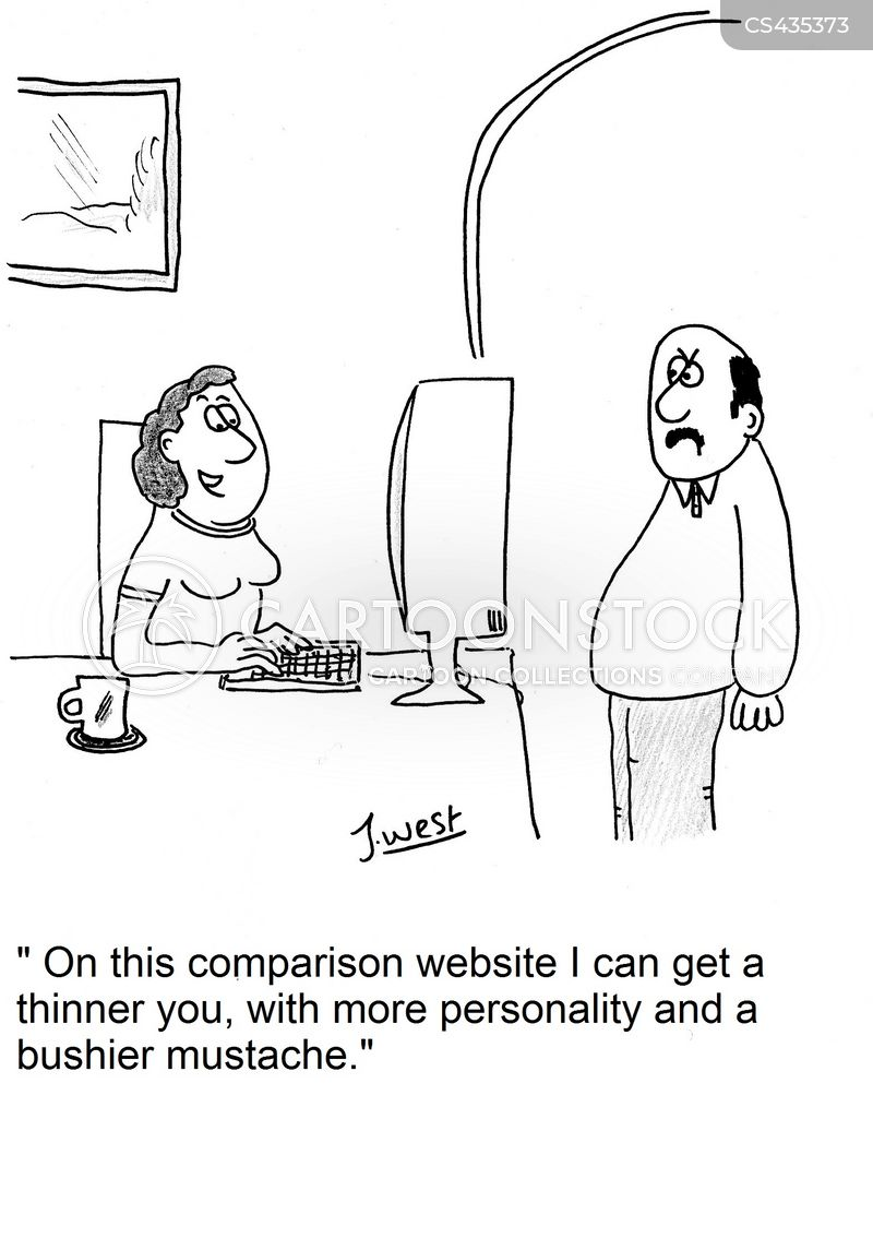 comparison website cartoon