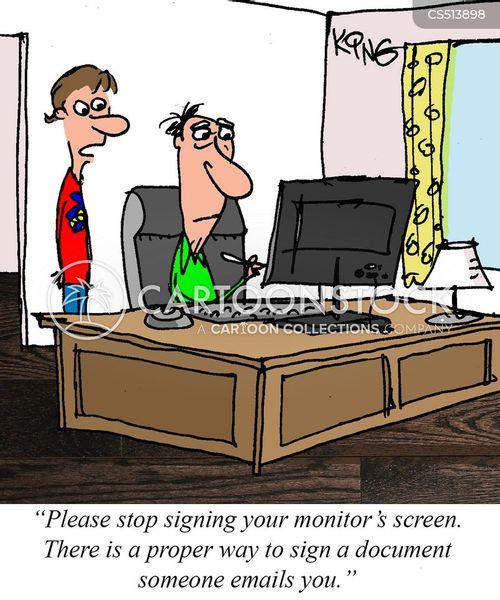 bad with computers cartoon