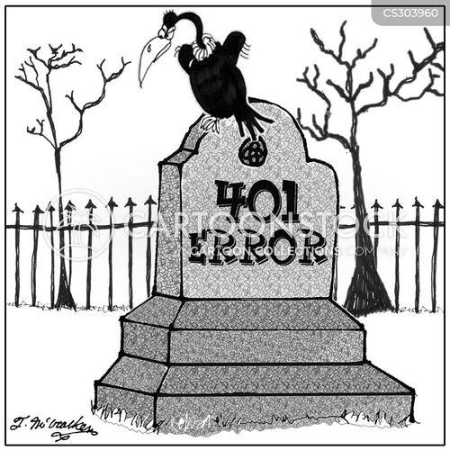 dead computer cartoon