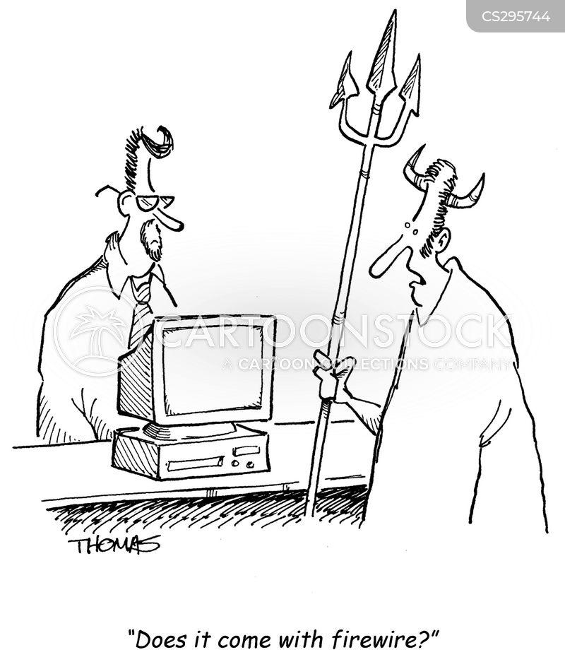 personal computer cartoon