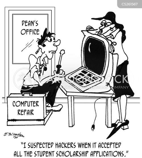 scholarships cartoon