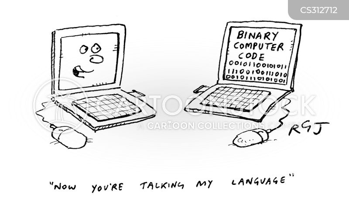 binary code cartoon