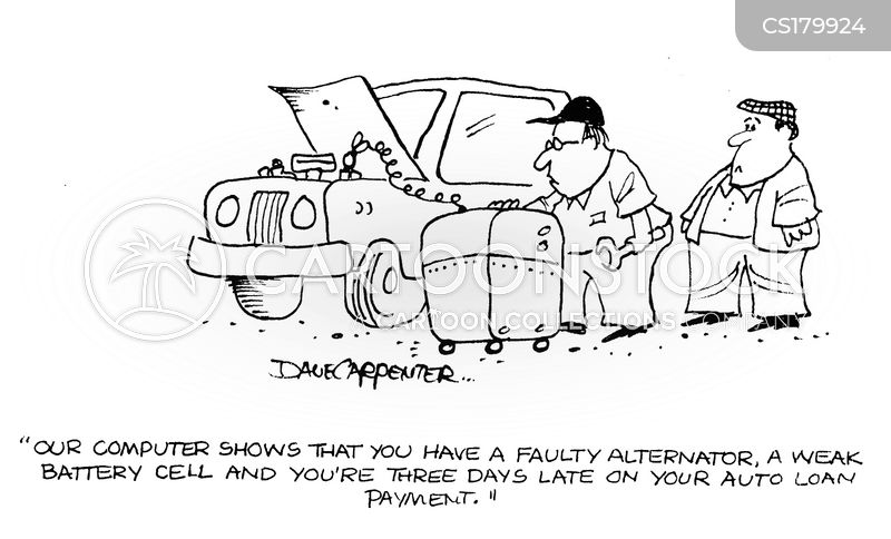 auto repairs cartoon