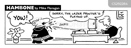 laser printers cartoon