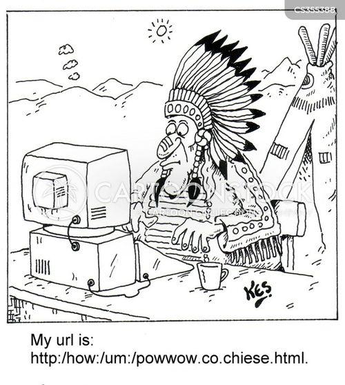 pow wow cartoon