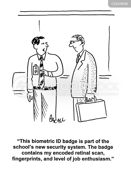 retinal scan cartoons and comics
