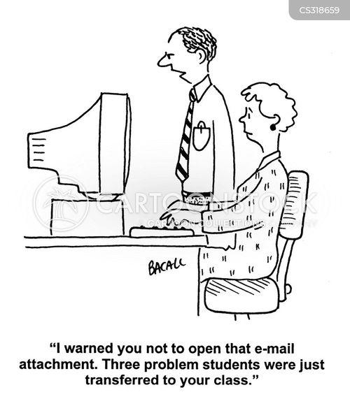 email attachment cartoon