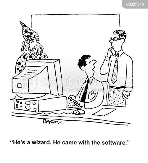 computer assistant cartoon