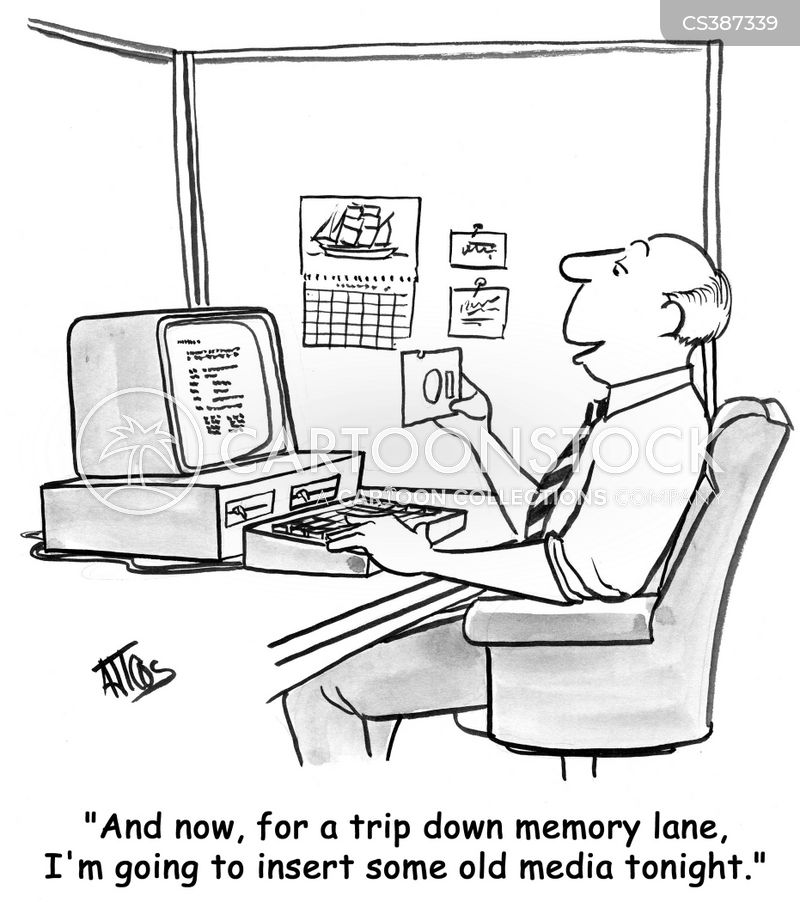 disk drives cartoon