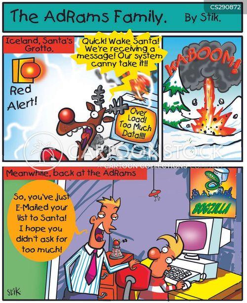 computer breakdown cartoon
