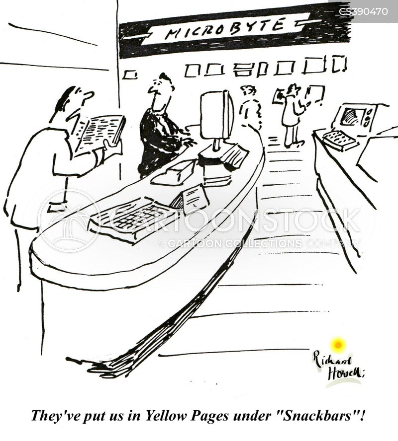 yellow pages cartoon