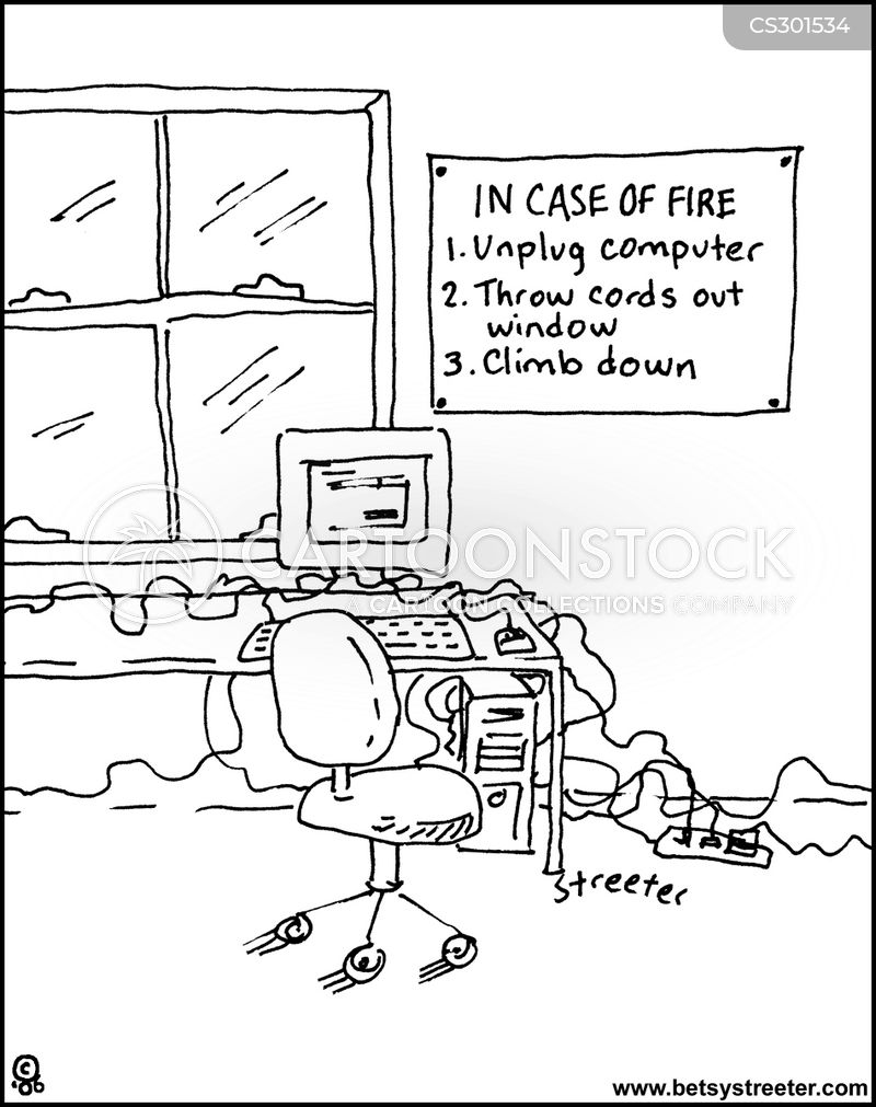 fire escape cartoons and comics