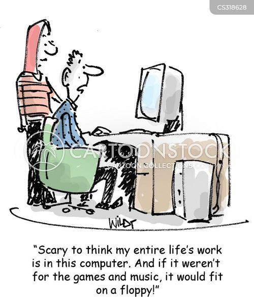 electronic age cartoon