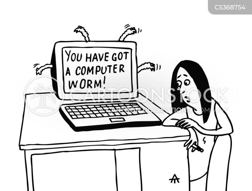 anti-virus cartoon