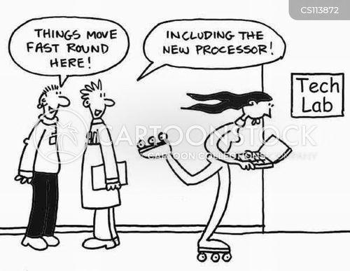 computer chips cartoon