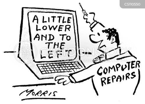 computer repair company cartoon