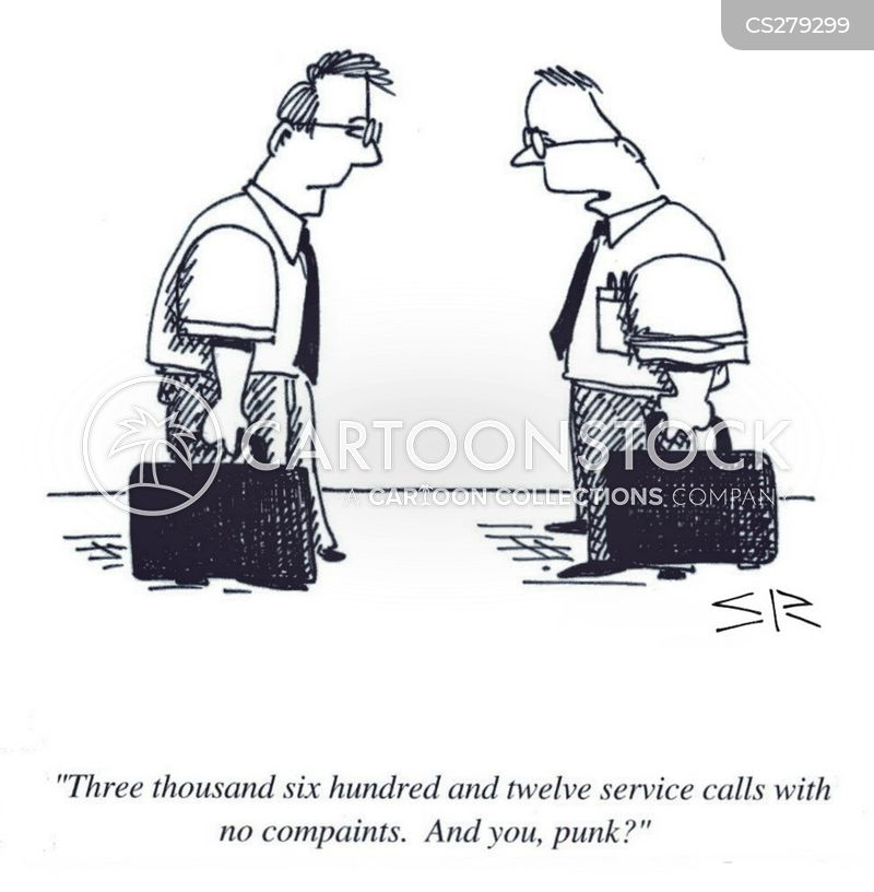 service record cartoon