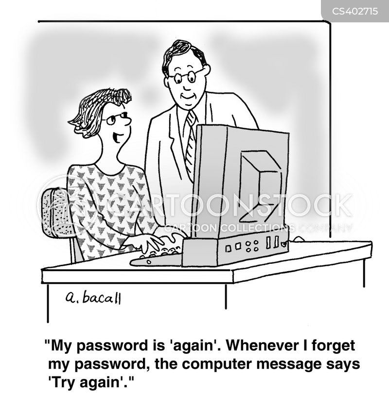 security questions cartoon