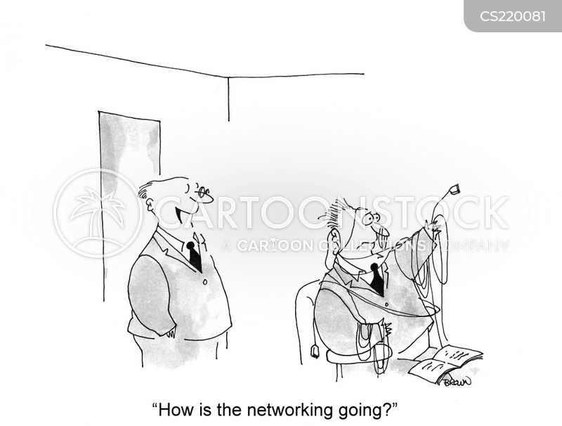 computer network cartoon