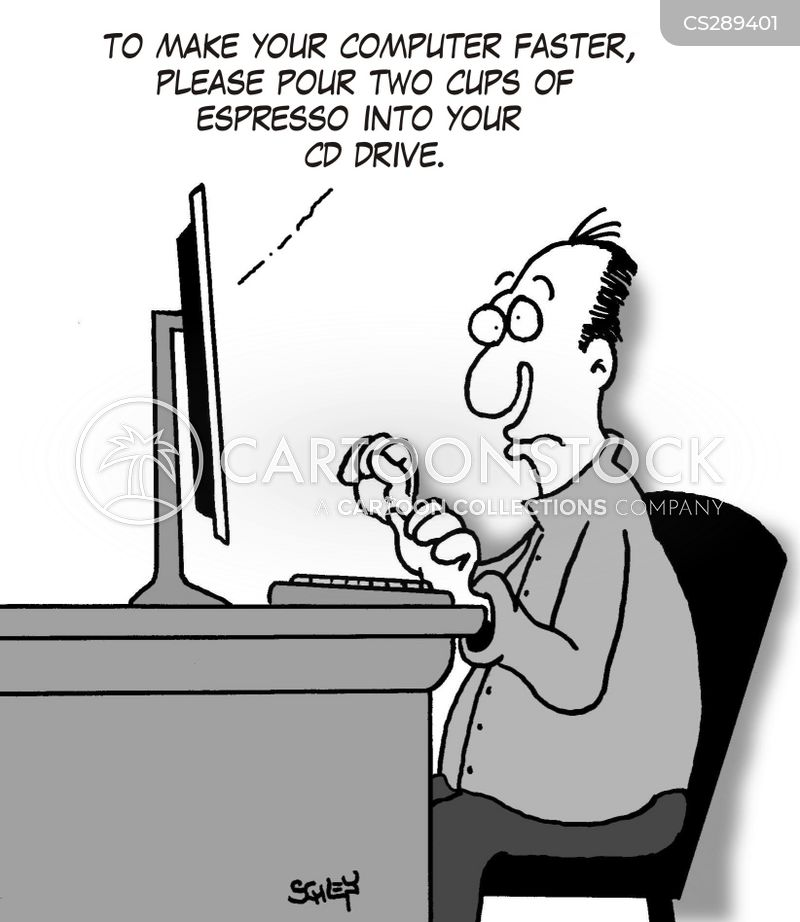 computer upgrade cartoon