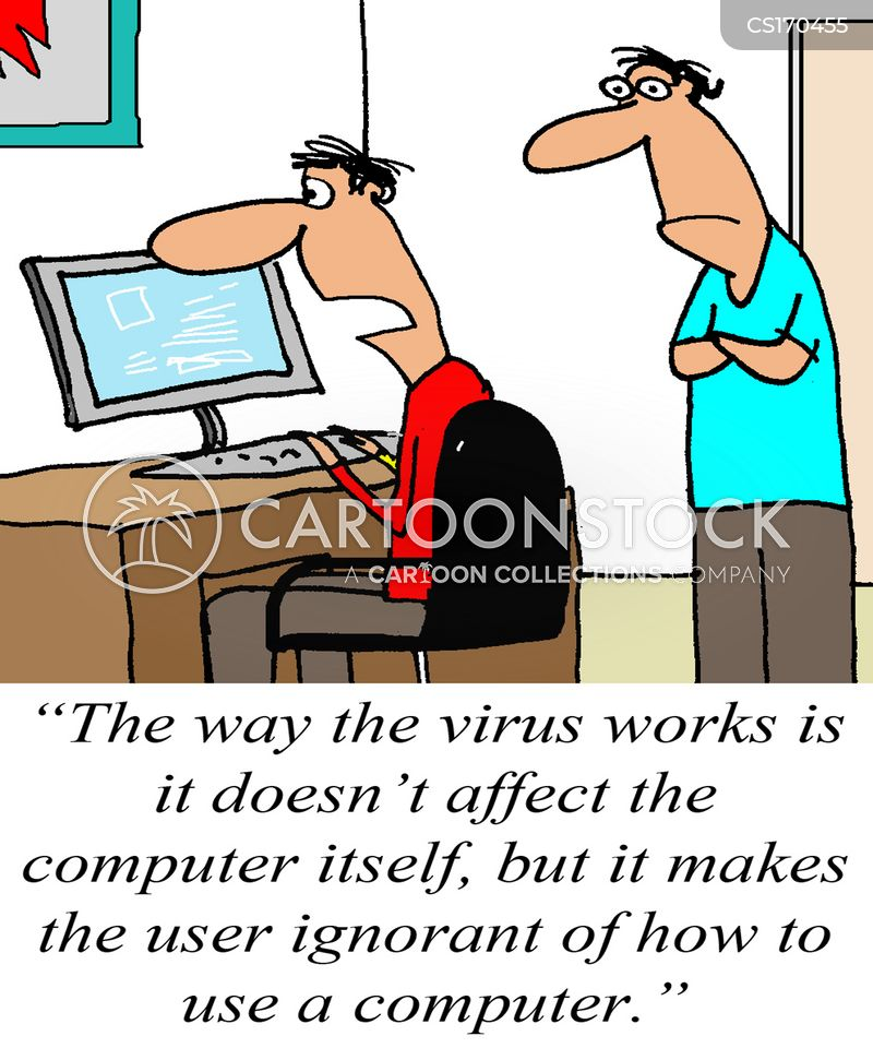 computer problems cartoon