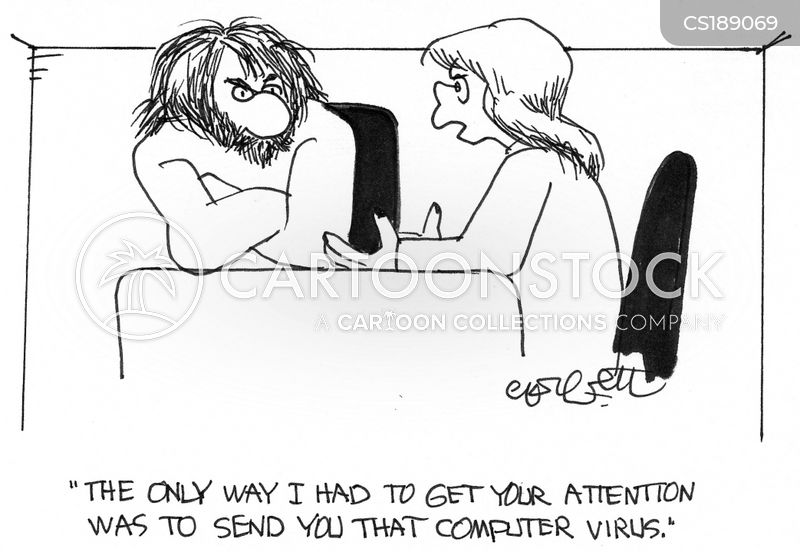 computer viruses cartoon