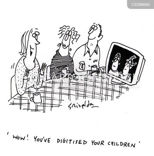 digitised cartoon