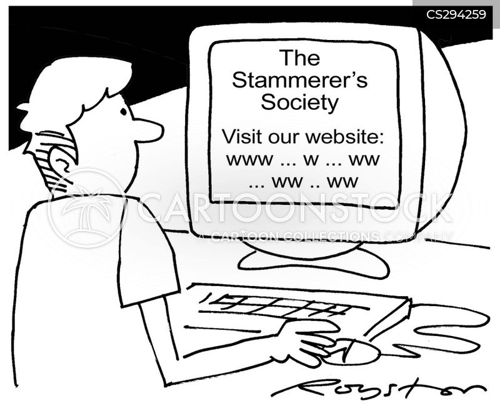 stuttering cartoon