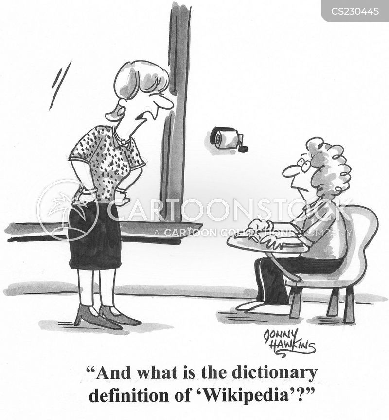 dictionary entries cartoon