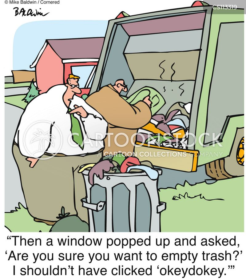 waste disposal cartoon