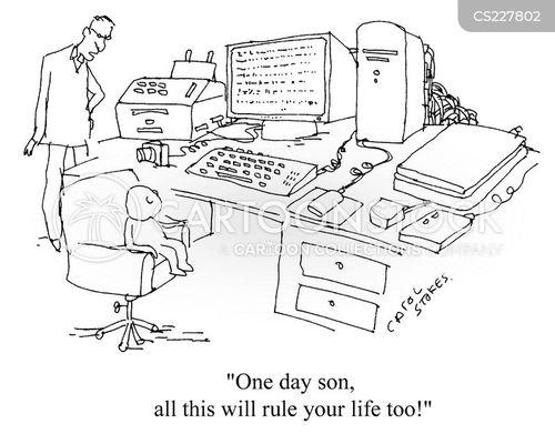 home workers cartoon