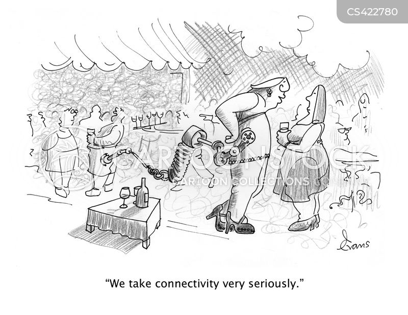 connected cartoon
