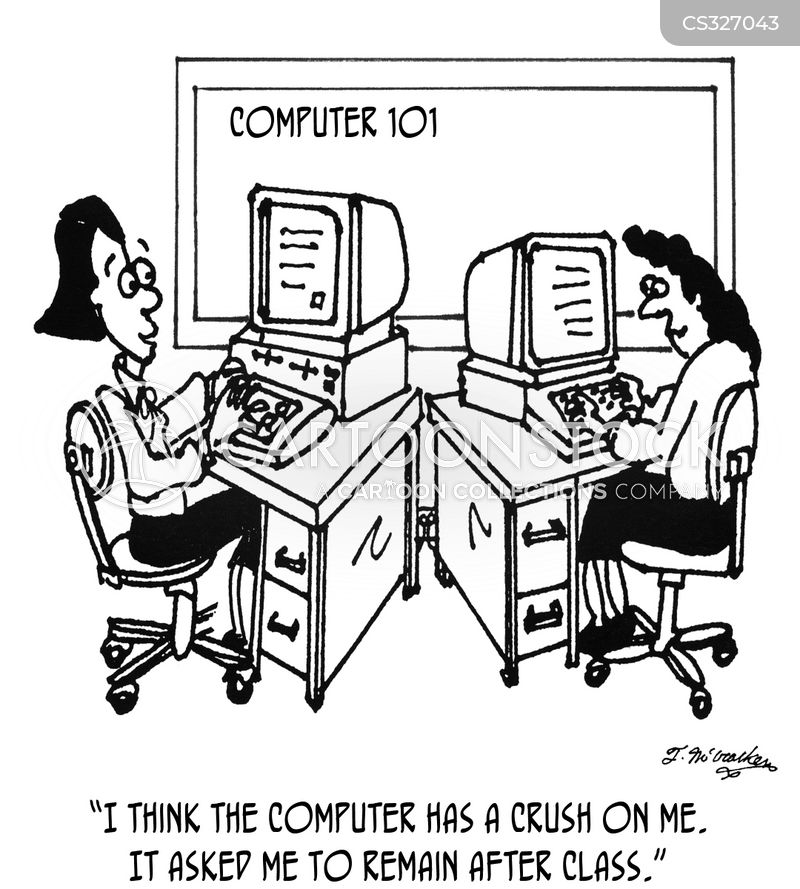 computer lessons cartoon
