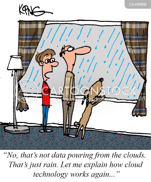 data clouds cartoon